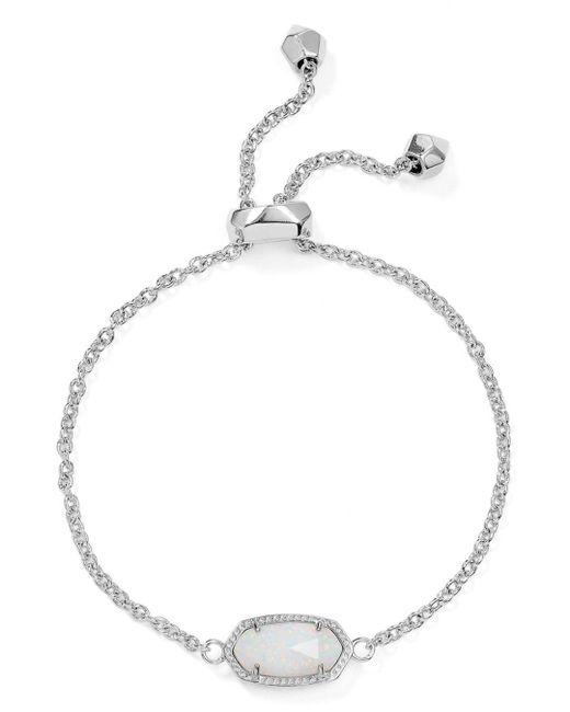 Kendra Scott - White Elaina Kyocera Opal Bracelet - Lyst