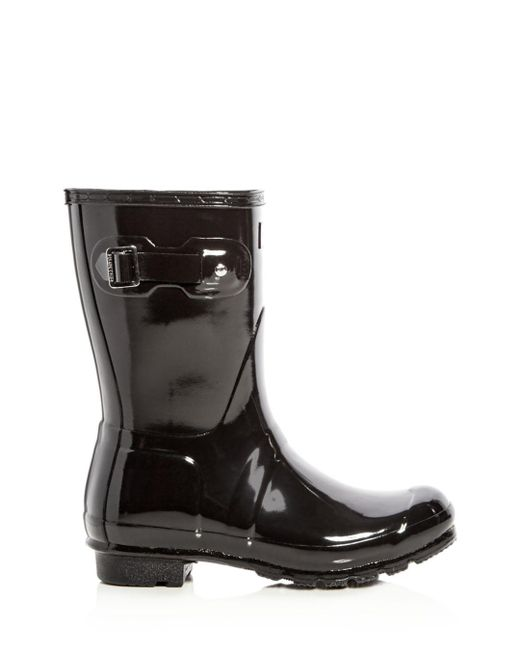 Hunter Pink Original Short Gloss Rain Boots