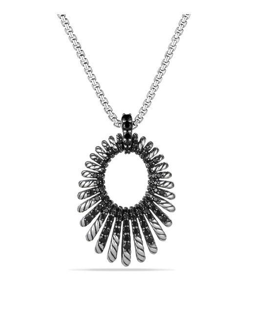 David Yurman   Metallic Tempo Necklace With Black Spinel   Lyst