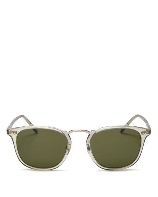 Oliver Peoples Green Men's Roone Square Sunglasses for men