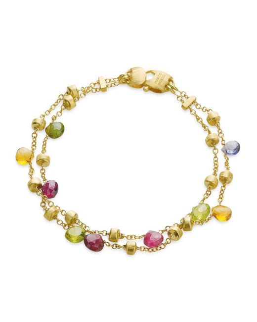 """Marco Bicego - Metallic """"paradise Collection"""" Two Strand Gold Bracelet - Lyst"""