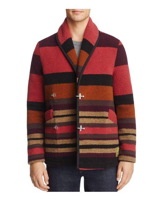 Scotch & Soda | Red Wool Blanket Jacket for Men | Lyst
