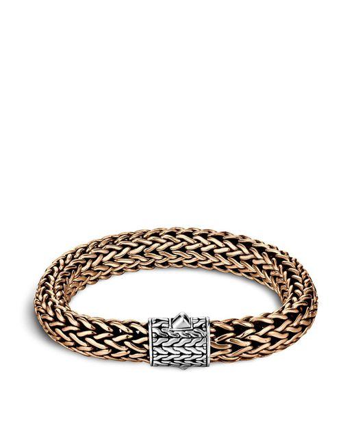 John Hardy - Metallic Men's Two-tone Woven Chain Bracelet for Men - Lyst
