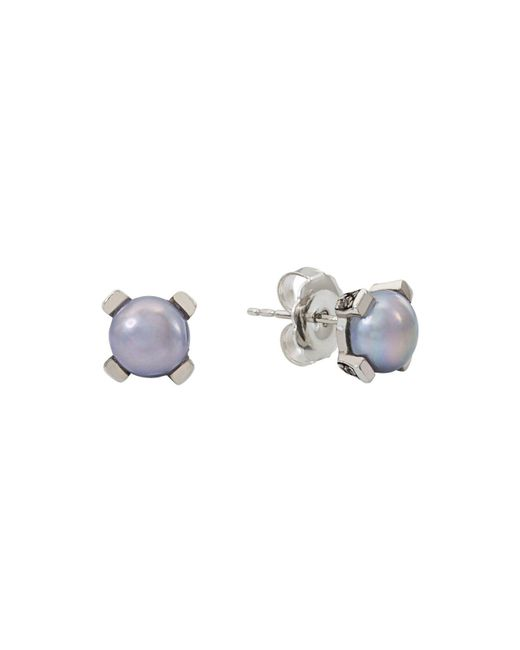 Stephen Dweck | Metallic Sterling Silver Stud Earrings | Lyst