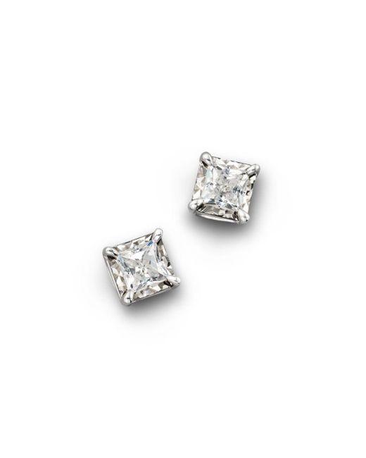 Bloomingdale's - White Diamond Princess Cut Stud Earrings, .75 Ct. T.w. - Lyst