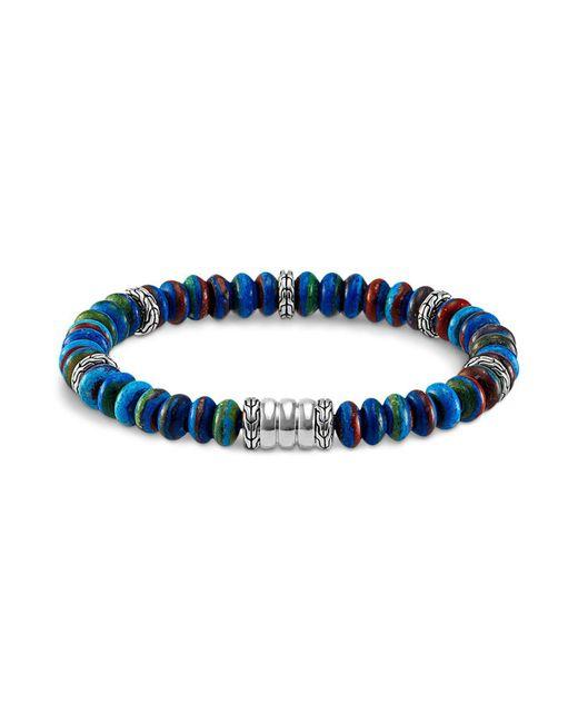 John Hardy | Blue Men's Bedeg Beaded Bracelet With Rainbow Calsilica for Men | Lyst