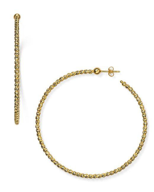 Officina Bernardi Metallic Hoop Earrings