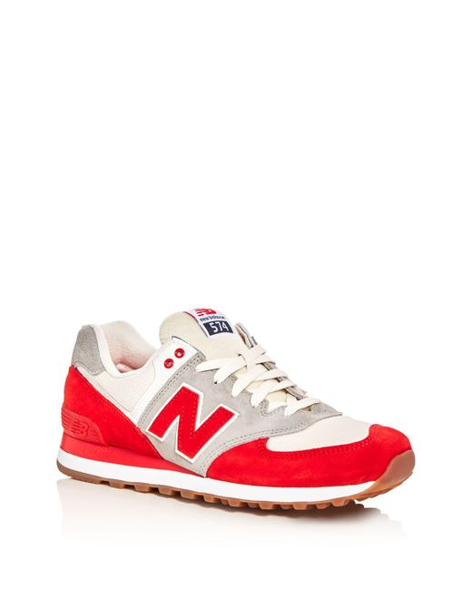 New Balance   Red Men's 574 Retro Lace Up Sneakers for Men   Lyst