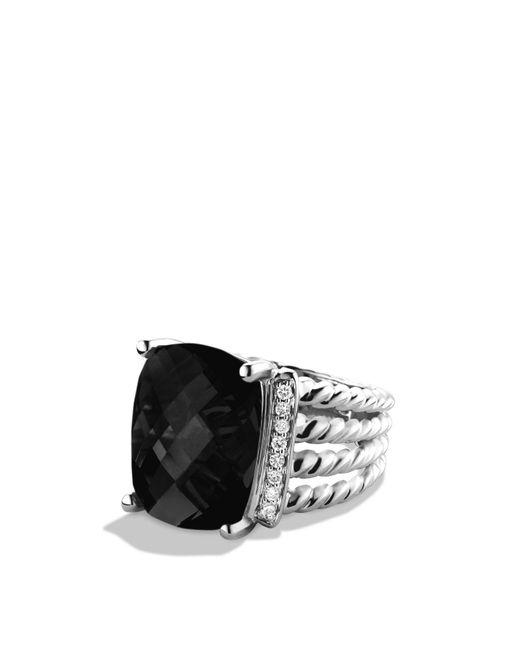 David Yurman   Metallic Wheaton Ring With Black Onyx And Diamonds   Lyst