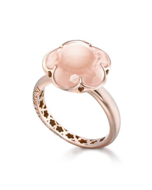 Pasquale Bruni - Pink 18k Rose Gold Floral Rose Quartz Ring - Lyst
