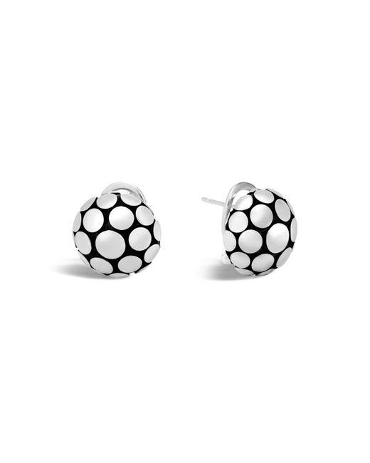 John Hardy | Metallic Sterling Silver Dot Large Button Earrings | Lyst