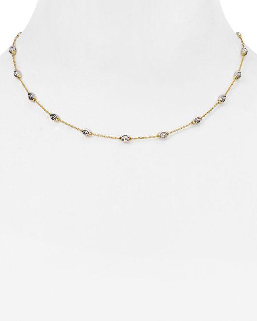 "Officina Bernardi - Metallic Beaded Necklace, 16"" - Lyst"