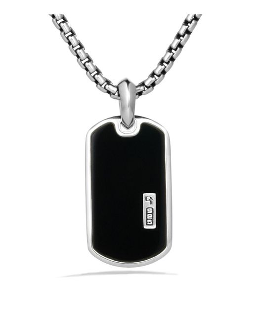 David Yurman | Metallic Exotic Stone Tag With Black Onyx On Chain for Men | Lyst