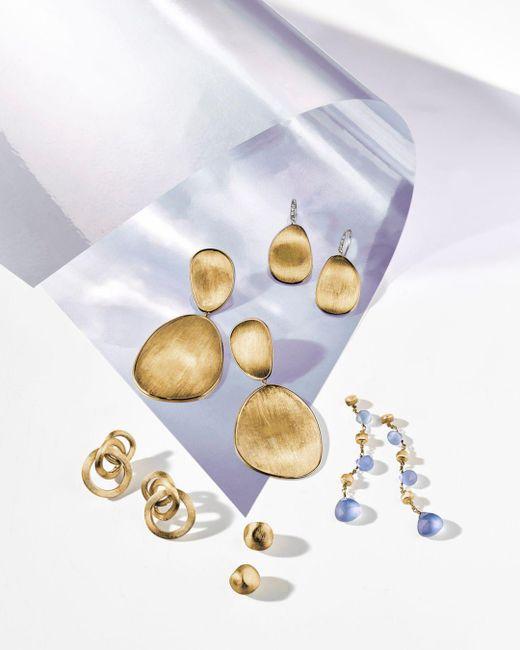 Marco Bicego Metallic 18k Yellow Gold Lunaria Two Drop Earrings