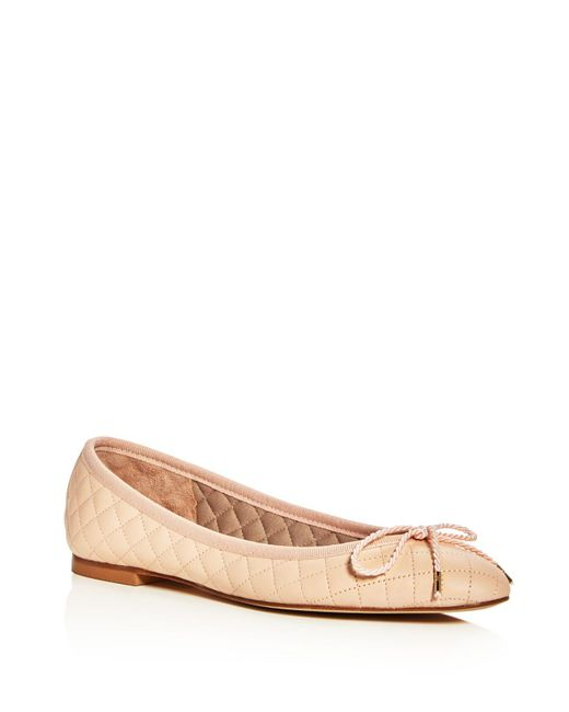 Paul Mayer | Natural Lido Lanai Quilted Ballet Flats | Lyst