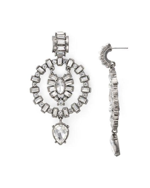 Aqua   Metallic Galante Statement Earrings   Lyst