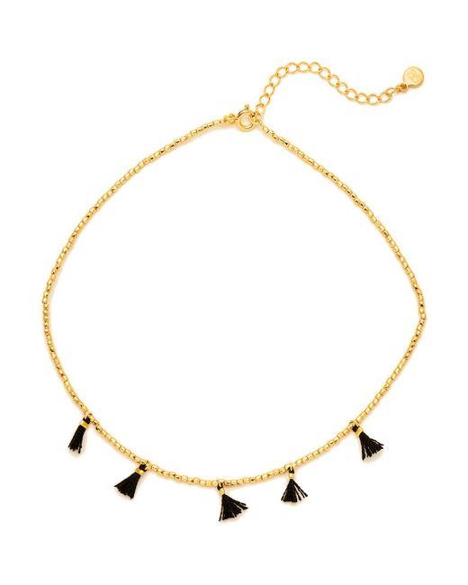 Gorjana | Metallic Playa Beaded Tassel Choker Necklace | Lyst