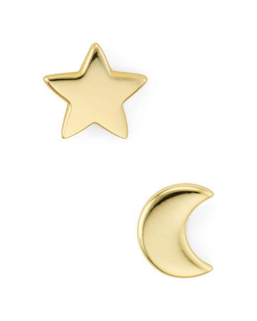 Argento Vivo - Metallic Moon & Star Stud Earrings - Lyst