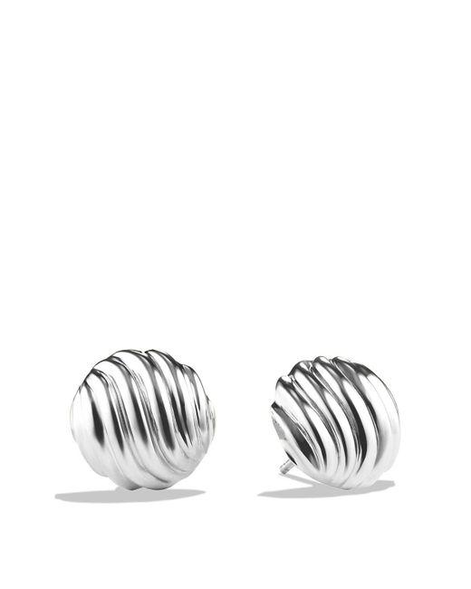 David Yurman | Metallic Sculpted Cable Earrings | Lyst