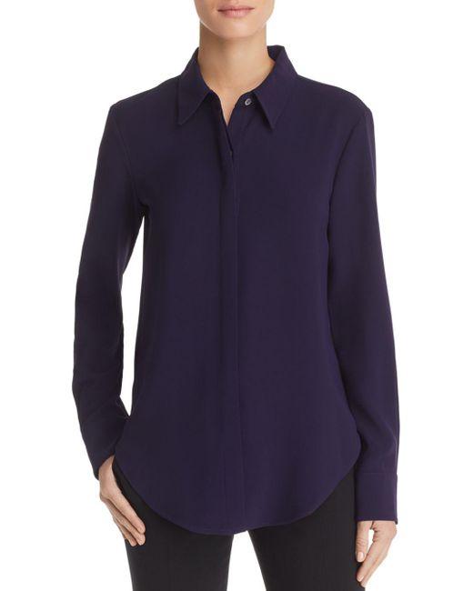 Theory - Blue Sunaya Crepe Shirt - Lyst