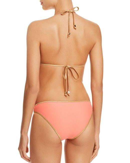 Sam Edelman Pink Moderate Coverage Reversible Bikini Bottom