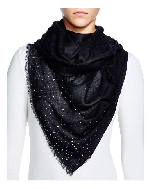 Fraas | Black Sparkle Wrap Scarf | Lyst