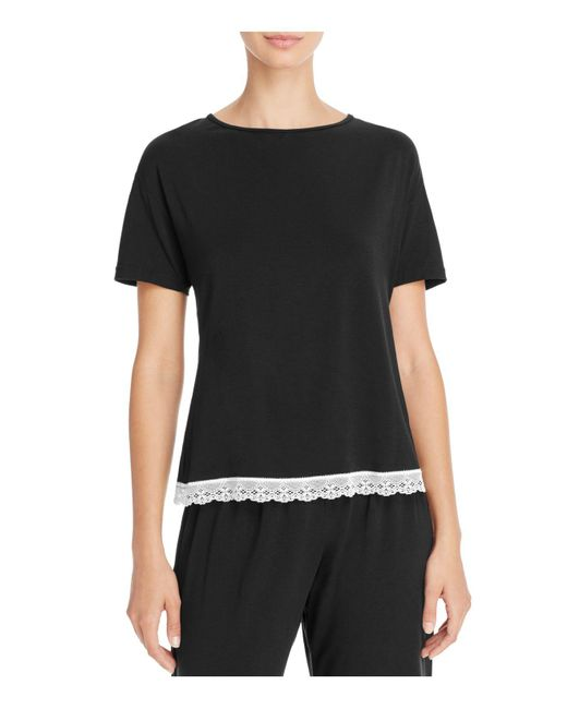 Cosabella | Black Majestic Short Sleeve Top | Lyst