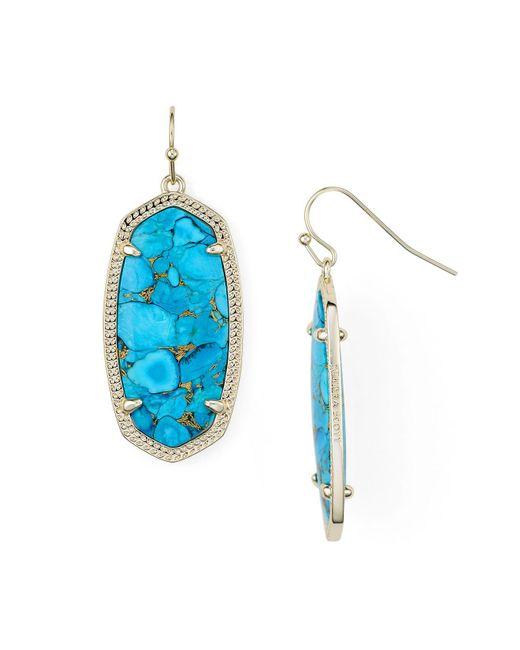 Kendra Scott - Blue Magnesite Elle Earrings - Lyst