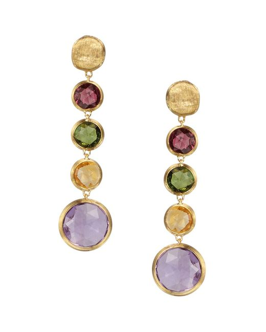 Marco Bicego | Metallic Jaipur 18k Yellow Gold And Multi-stone Drop Earrings | Lyst