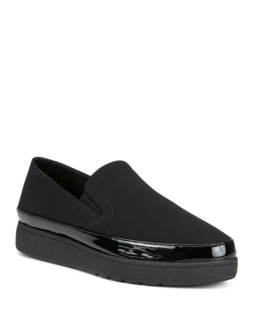 Donald J Pliner Black Women's Med Stretch Platform Sneakers