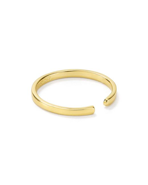Argento Vivo Metallic Open Ring In 18k Gold - Plated Sterling Silver