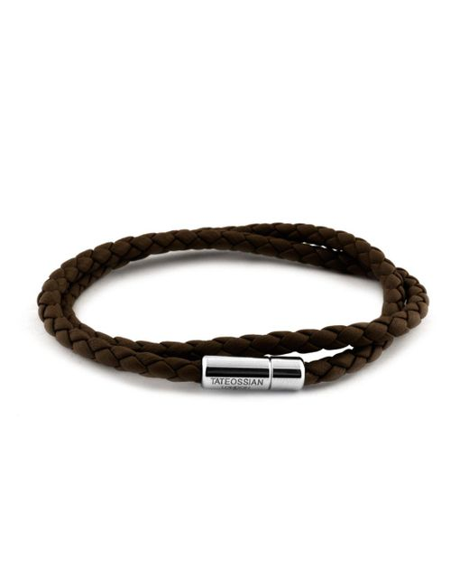 Tateossian - Brown Leather Bracelet for Men - Lyst