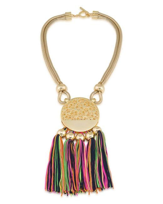 Trina Turk - Metallic Mojito Nights Tasseled Pendant Necklace - Lyst