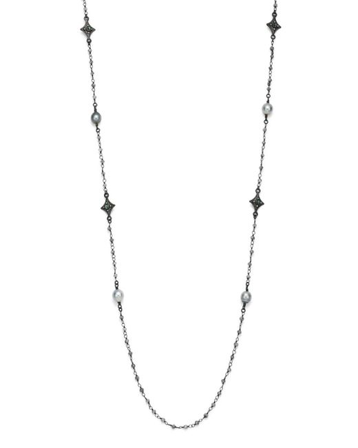 Armenta - Metallic Champagne Diamond And Tourmaline Beaded Cravelli Station Necklace - Lyst
