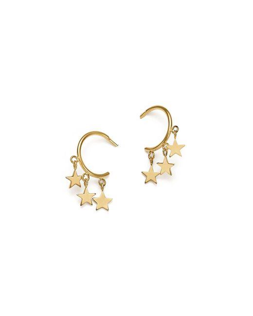 Zoe Chicco - Metallic 14k Yellow Gold Itty Bitty Stars Hoop Earrings - Lyst