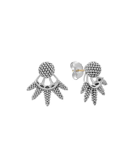 Lagos | Metallic Sterling Silver Signature Caviar Bead Spiked Ear Jackets | Lyst