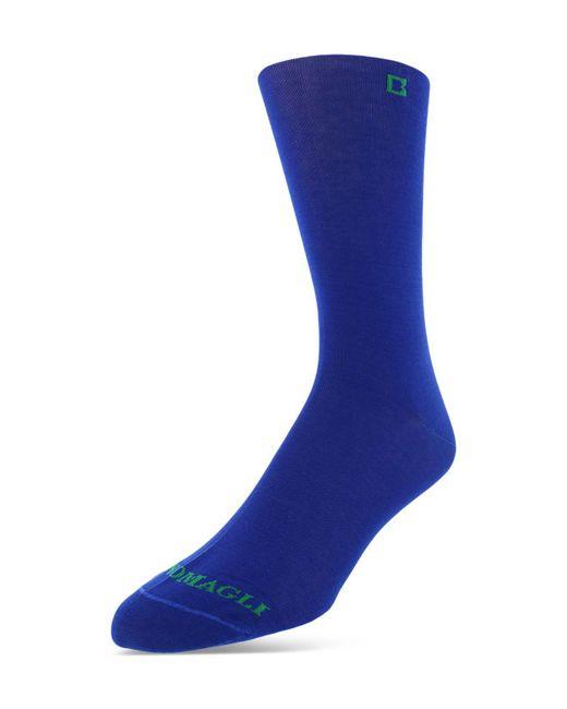 Bruno Magli   Blue Solid Mercerized Cotton Blend Dress Socks for Men   Lyst