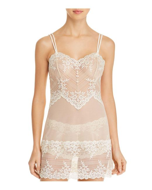 Wacoal - Natural Embrace Lace Chemise - Lyst