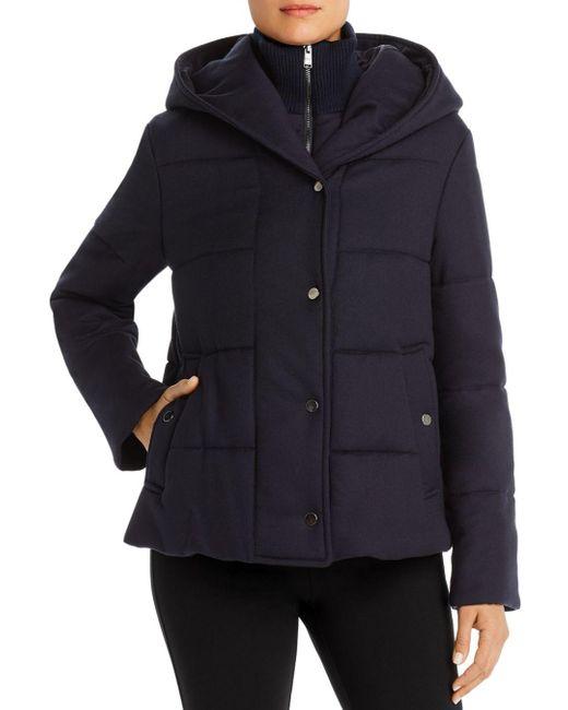 BOSS Blue Pera Wool - Blend Puffer Coat