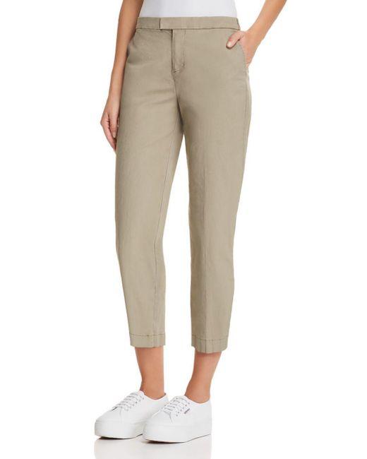 ATM Black Slim Cropped Pants
