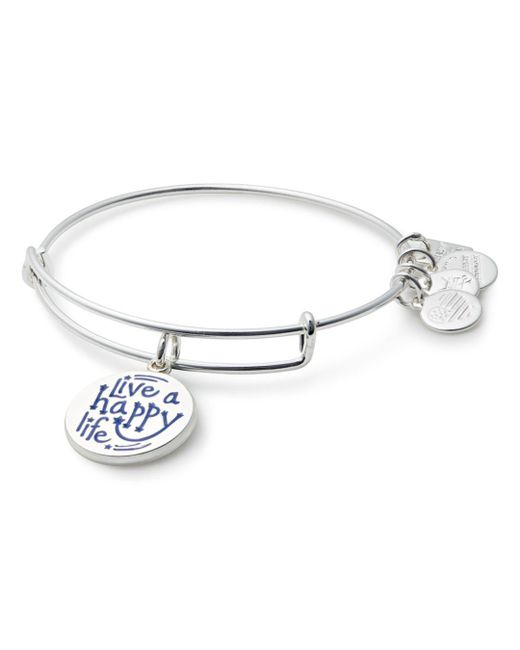 ALEX AND ANI - Metallic Live A Happy Life Expandable Wire Bangle - Lyst