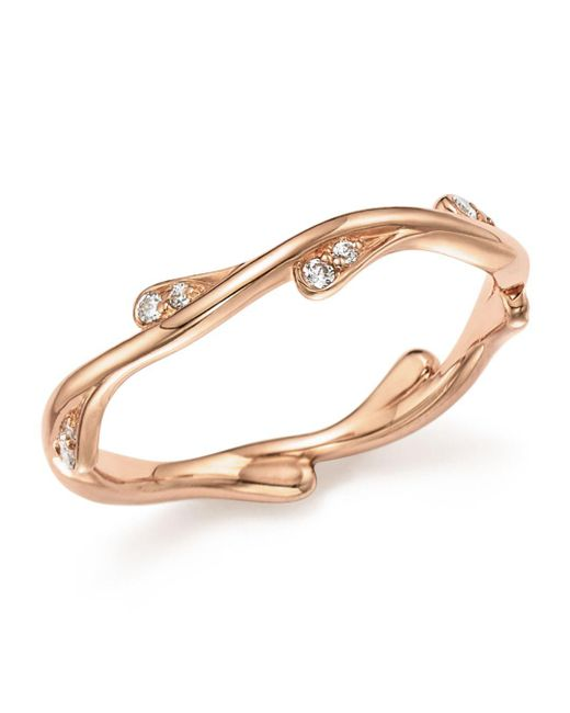 Bloomingdale's - Multicolor Diamond Stacking Ring In 14k Rose Gold, .10 Ct. T.w. - Lyst