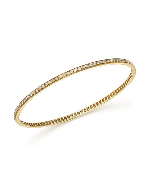 Roberto Coin | Metallic 18k Yellow Gold Diamond Bangle | Lyst