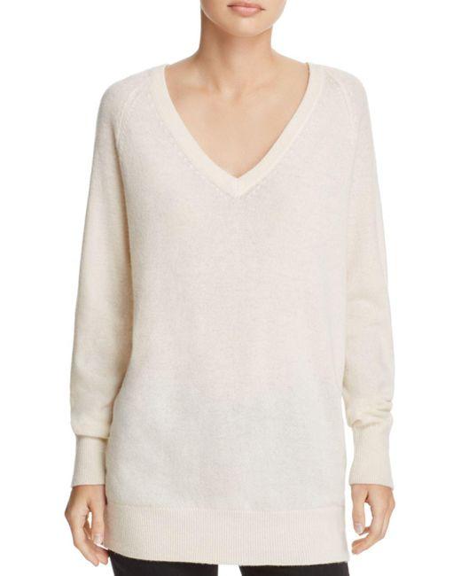 Equipment - White Asher V-neck Cashmere Sweater - Lyst