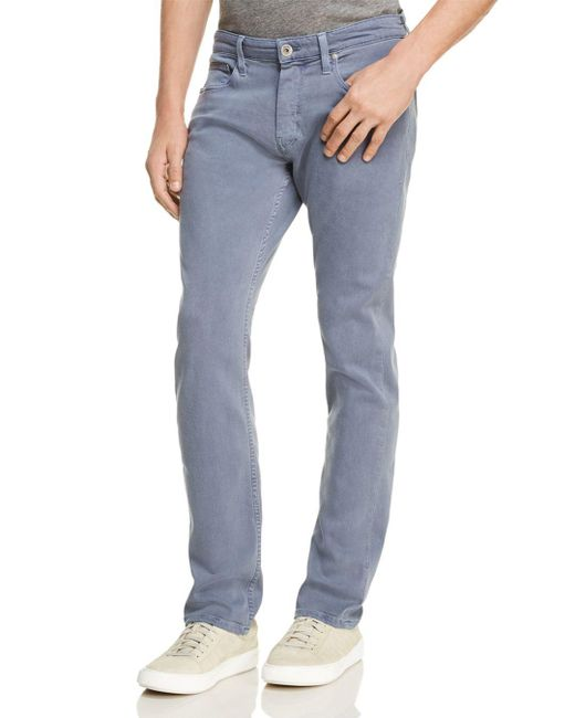 PAIGE - Transcend Federal Slim Fit Jeans In Vintage Smokey Blue for Men - Lyst