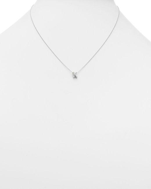 Roberto Coin Metallic Tiny Treasures Diamond & 18k White Gold Love Letter Pendant Necklace