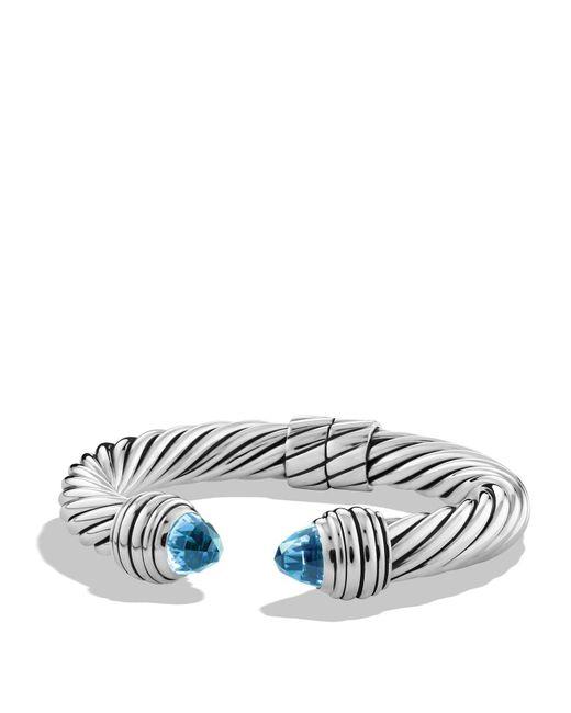 David Yurman | Metallic Cable Classics Bracelet With Blue Topaz | Lyst