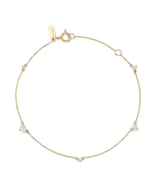 Adina Reyter | Metallic 14k Yellow Gold Amigos Five Diamond Station Bracelet | Lyst