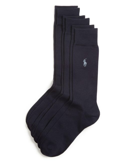 Polo Ralph Lauren - Blue Solid Dress Socks for Men - Lyst