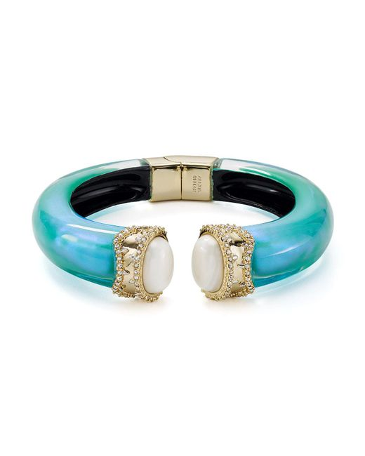 Alexis Bittar | Blue Hinged Bracelet | Lyst